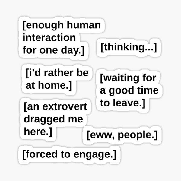 Introvert starter pack Sticker