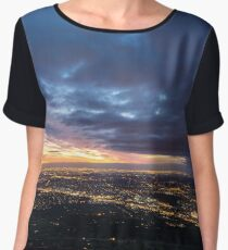 Sunset over Melbourne Women's Chiffon Top