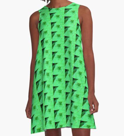 Green Bush Cricket A-Line Dress