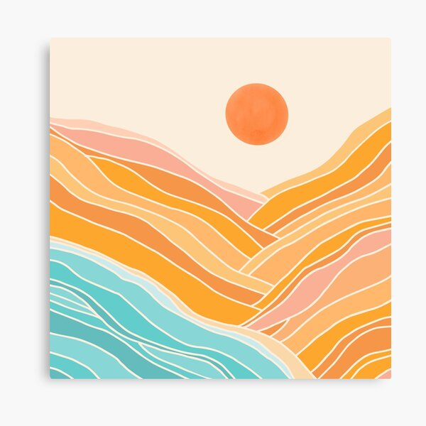 Adventure Is On The Horizon - Abstract Landscape Canvas Print
