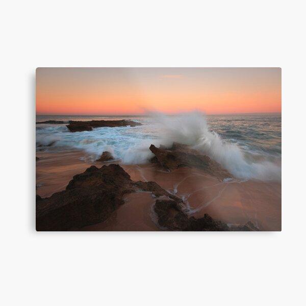 A Splash of Dawn - Koonya Beach Blairgowrie Metal Print