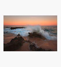 A Splash of Dawn - Koonya Beach Blairgowrie Photographic Print