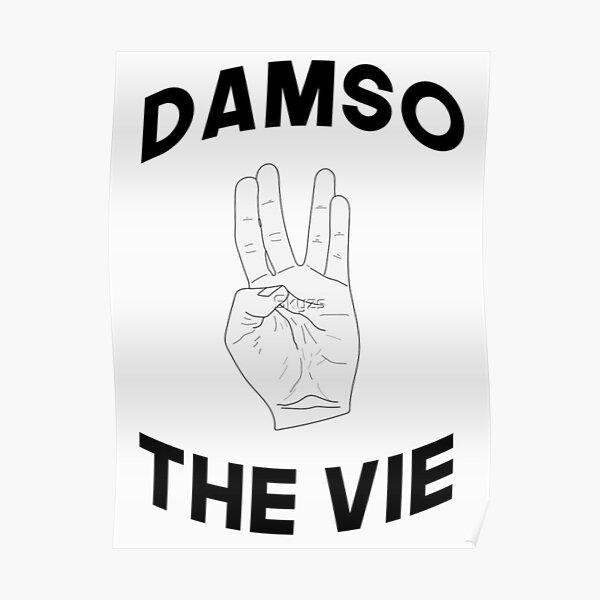 Damso vie QALF Rap fr the Vie Logo Dessin T shirt marque poster Poster