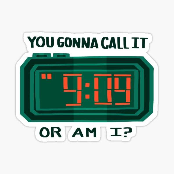 helium clock Sticker