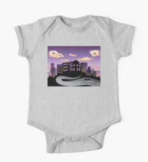 Sunset City and Road Silhouette 3 One Piece - Short Sleeve