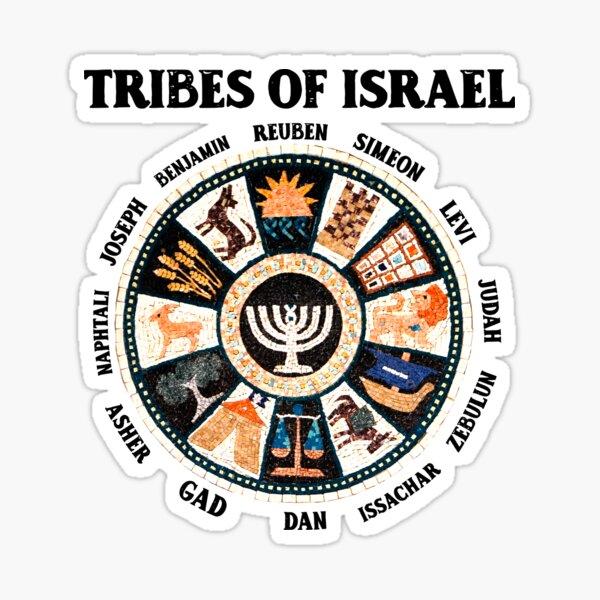 12 Twelve Tribes of Israel Hebrew Israelite Judah Jerusalem Sticker