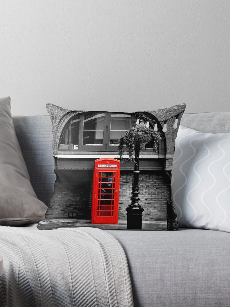London red phone box  by saramessenger