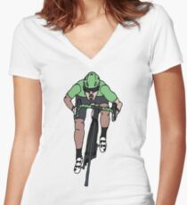 "Mark Cavendish  -  ""Le Maillot Vert"" Women's Fitted V-Neck T-Shirt"