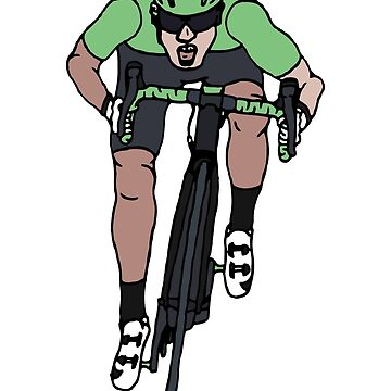 """Mark Cavendish  -  """"Le Maillot Vert"""" by Number14"""