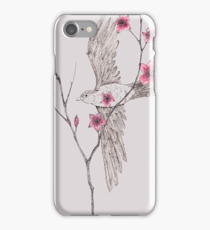 Flying Through The Blossom iPhone Case/Skin