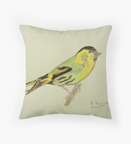 Siskin Drawing Throw Pillow