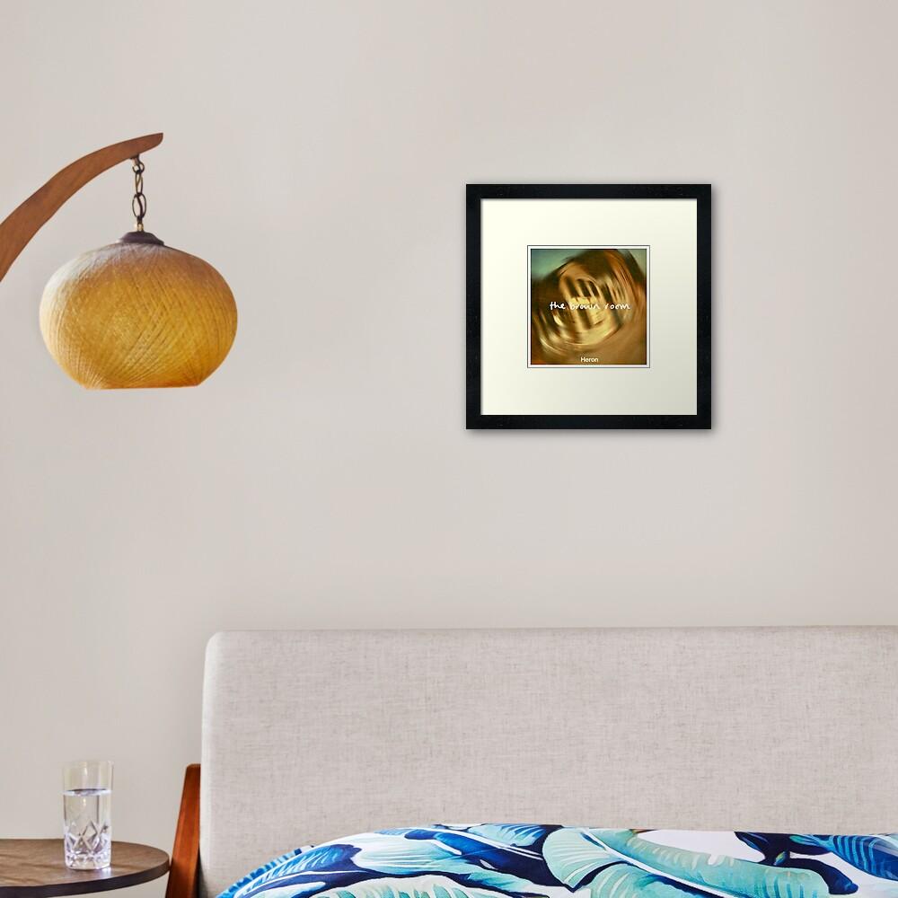 The Brown Room - Artwork Framed Art Print