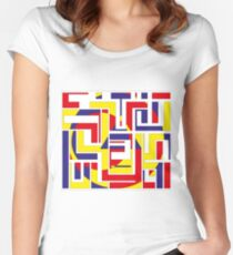 Tribal Constructivist - Marquesas Women's Fitted Scoop T-Shirt