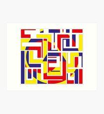 Tribal Constructivist - Marquesas Art Print