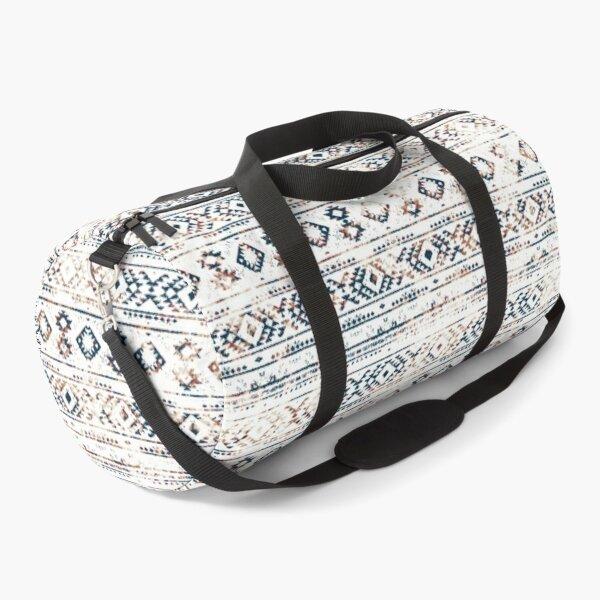 Geometric kilim ikat patern aztec Duffle Bag