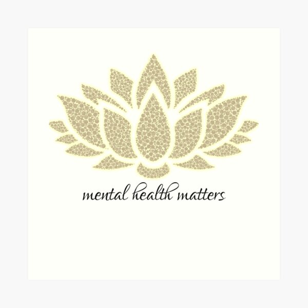 Mental Health Matters Art Print