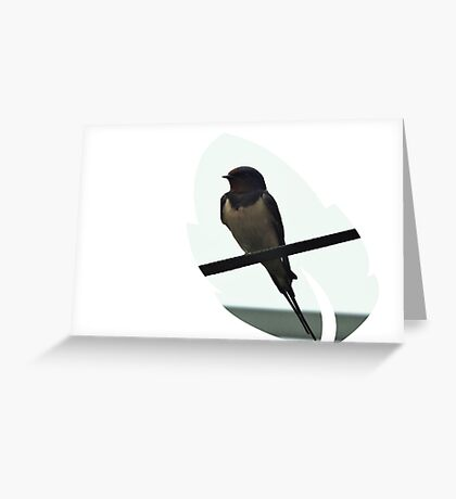 Swallow Leaf Design Greeting Card