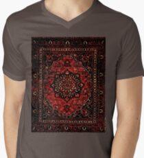 Persian carpet look in rose  V-Neck T-Shirt