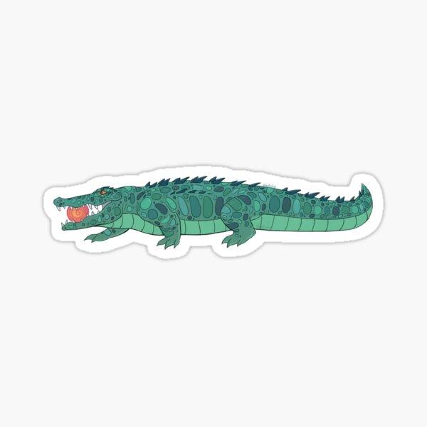 Sun eater crocodile - flat colored Sticker