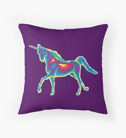 Heat Vision - Unicorn Throw Pillow