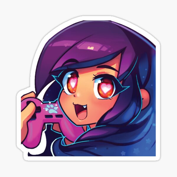 Aphmau with video game Sticker