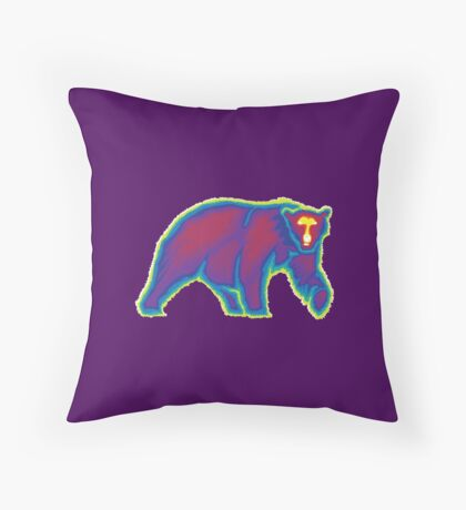 Heat Vision - Polar Bear Throw Pillow