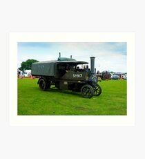 WW1 Foden army steam lorry Art Print