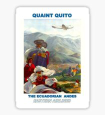 EASTERN AIRLINES; Fly to the Ecuadorian Andes Print Sticker