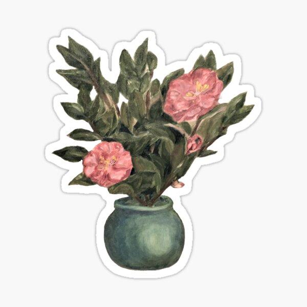 Camellia Still Life Sticker