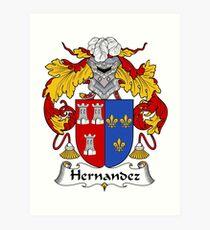 Armoiries de Hernandez / Crête de famille Impression artistique