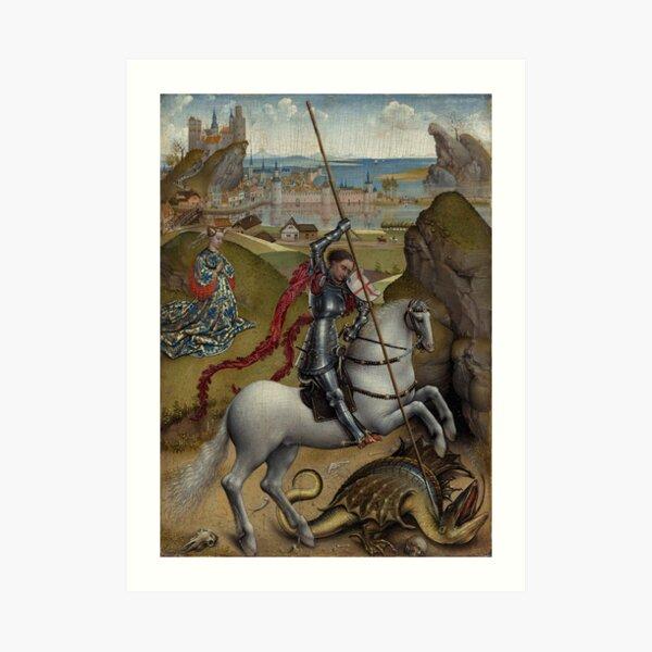 """Saint George and the Dragon"" Art Print"