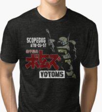 CLASSIC RETRO JAPAN ANIME MANGA ARMORED TROOPER VOTOMS SCOPEDOG ROBOT SOLDIER Tri-blend T-Shirt