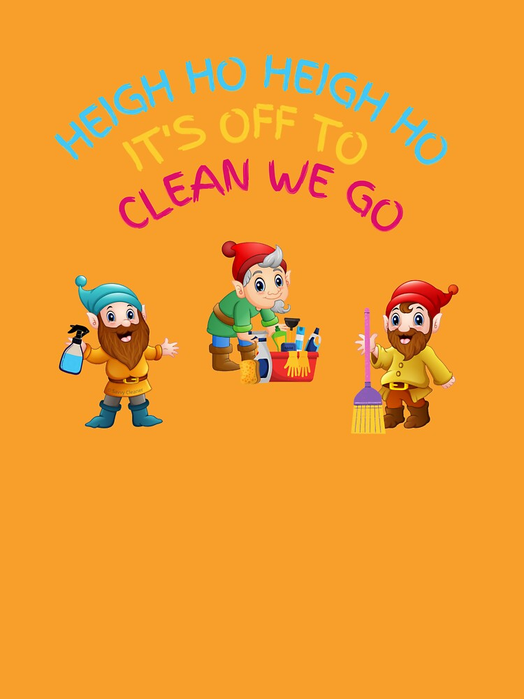 Off to Clean We Go Funny Cleaning Lady Housekeeper Cleaning Crew Gifts by SavvyCleaner
