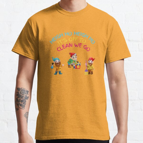 Off to Clean We Go Funny Cleaning Lady Housekeeper Cleaning Crew Gifts Classic T-Shirt