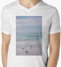 Beach Birds Men's V-Neck T-Shirt