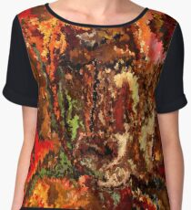 modern composition 19 by rafi talby Women's Chiffon Top