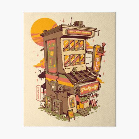 Arcade house Art Board Print