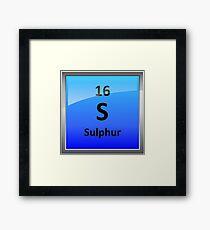 Sulphur Periodic Table Element Symbol Framed Print