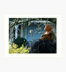 An Angel Watches Over Me Art Print
