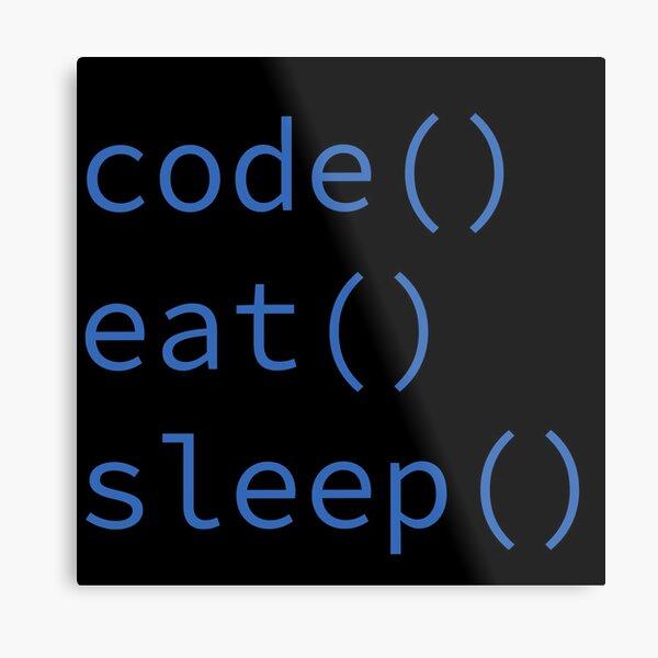 Code, Eat, Sleep Metal Print