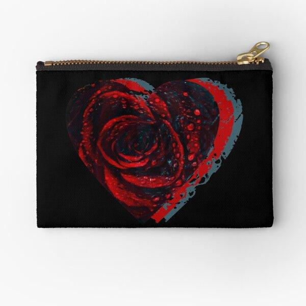 Rose Heart Zipper Pouch