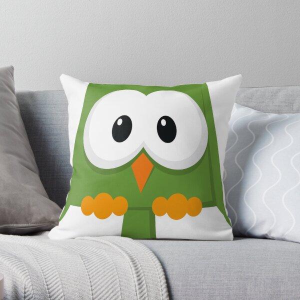 eule grün, owl Dekokissen