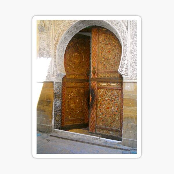 Moroccan mosque door Sticker