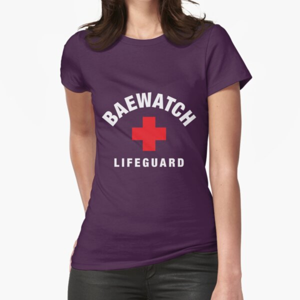 Baewatch Lifeguard Fitted T-Shirt
