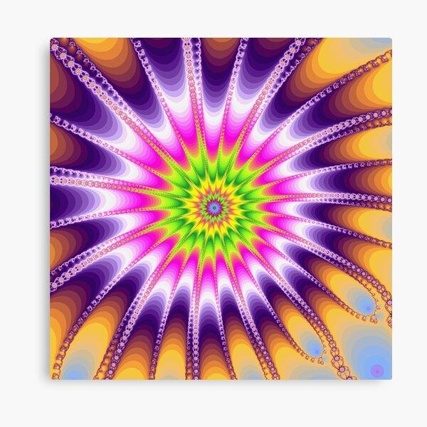 Fraktal Violet Leinwanddruck