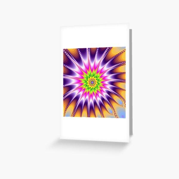 Fraktal Violet Grußkarte