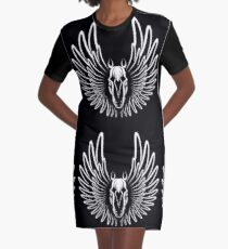 Pegaso (White on Dark version) Graphic T-Shirt Dress