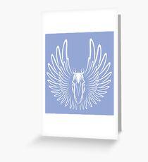 Pegaso (White on Dark version) Greeting Card