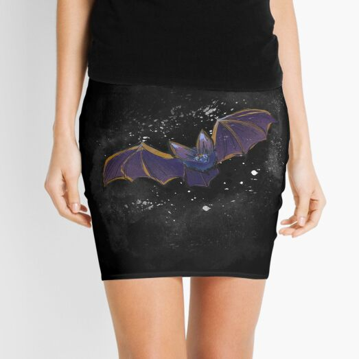 Bat into Space Mini Skirt