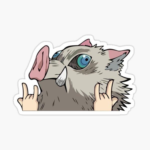 Pig Mask Anime Peeker  Sticker